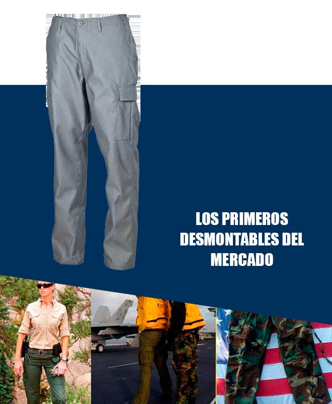 pantalones desmontables precio mercado