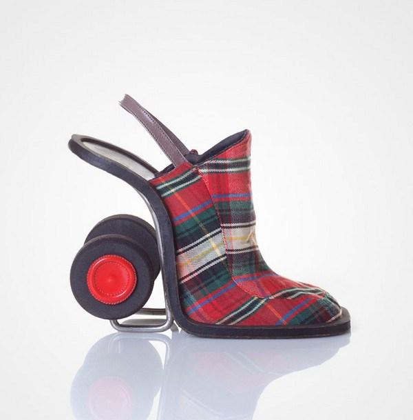 zapatos tacon forma carrito compra