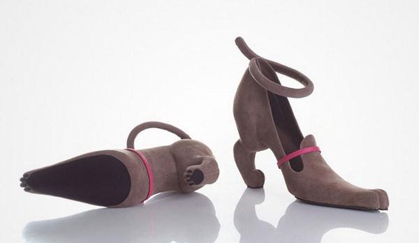 zapatos tacon forma de gato