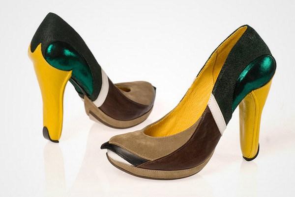 zapatos tacon forma pato