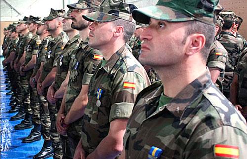 Ejército español uniformes ropa