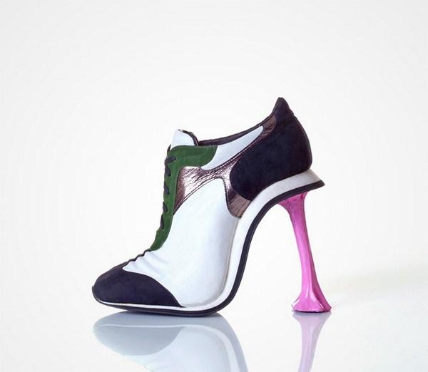 zapatos tacón forma chicle
