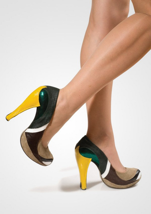 zapatos tacon forma de pato