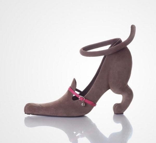 zapatos tacon forma gato