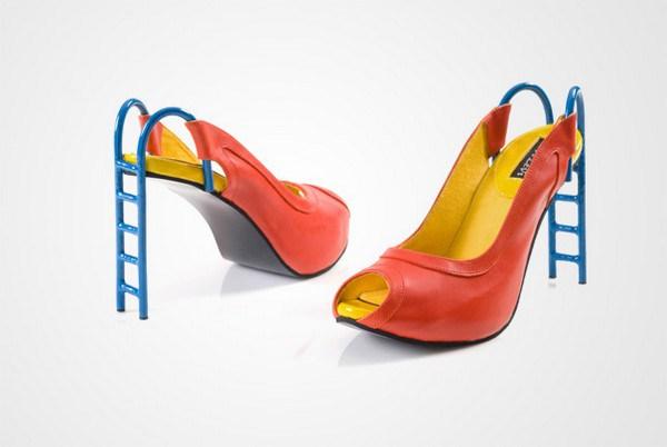 zapatos tacon forma tobogan