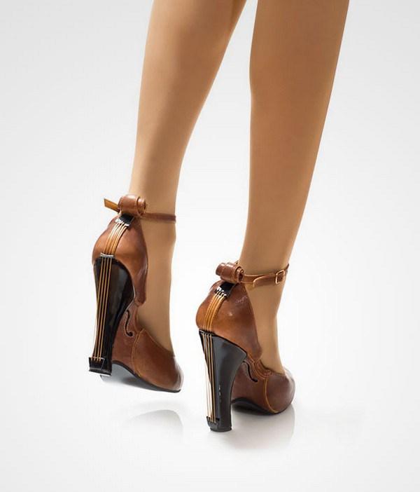 zapatos tacon forma violin